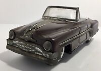 Pontiac Convertible Minister Deluxe Amartoy Tin Friction Vintage Toy Car Red