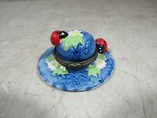 Vintage Ceramic Pottery Porcelain Ladybug Trinket Pill Box Small