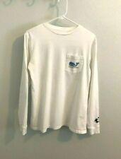 Men's Vineyard Vines White Shark Week Long Sleeve T-shirt-Size XS-Free Shipping!
