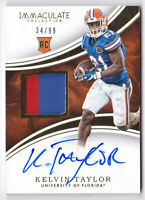 2016 Immaculate Collection Collegiate #135 Kelvin Taylor RC Auto 34/99