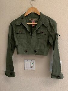 Original Star Jeans Army Green Cropped Shirt Size S