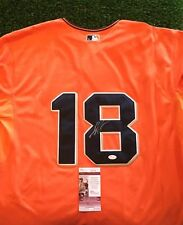 MATT CAIN SAN FRANCISCO GIANTS STUD Orange SIGNED Jersey JSA/COA I48109