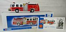 "Corgi #US52207 ""Kansas City"" E-1 Sidemount Fire Truck 7 3/8"" Long Nr Mint W/Box"