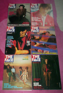 THE FACE MAGAZINE. 1980. 6 issues. 1,2,3,5,6,8. VG-EX.