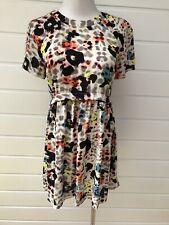 TOPSHOP Multicoloured Leopard Animal Print Short Sleeve Dress - Size 6