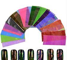 20 Transferfolien Nailart Nail Art Zauberfolie Nagel Holo Sticker+ Kleber Set 29