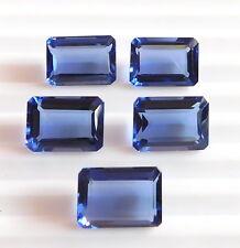 28.30Ct 4 Pcs Loose Tanzanite Octagon Cut Loose Gemstone 10X14 Ring Size H-2940