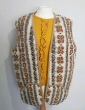 Vtg Confidence in textiles pure wool body warmer gillet waistcoat jacket L 14/16