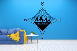 Compass Wanderlust Traveling Traveler Wall Art Vinyl Decal Sticker Decor TK4231