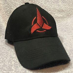Star Trek Cap Hat Klingon Empire Logo NEW Black Red Embroidery Adjustable