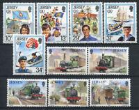 Jersey 1985 Mi. 350-359 Postfrisch 100% Jugend, Eisenbahnen