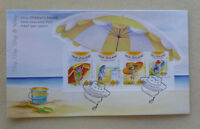 2015 NEW ZEALAND SUN SMART SLIP SLOP SLAP 4 STAMPS MINI SHEET FIRST DAY COVER