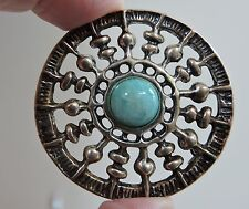 UNI DAVID ANDERSEN vintage Sterling Silver MODERNIST pin pendant NORWAY