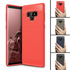 For Samsung Galaxy Note 9 Carbon Fiber Soft TPU Silicon Protective Case Cover