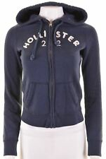 HOLLISTER Womens Hoodie Sweater Size 10 Small Navy Blue Cotton  AJ16