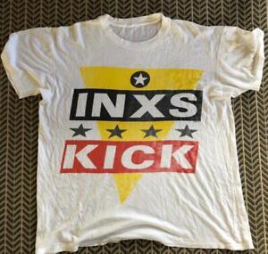 Rare Vintage 1988 INXS KICK Tour Tee Shirt T-Shirt Super Thin Original Tee  - XL