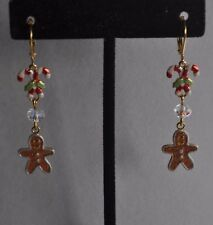 Bread Earrings Gold Tone Kirks Folly Christmas Ginger