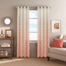 2 Colordrift Seascape Grommet Window Curtain Panels Coral Shells Nautical 104X95