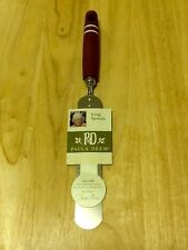 NEW PAULA DEEN Stainless Steel Cake Icing Spatula Red Handle Unused
