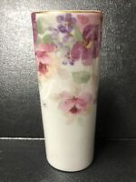 "Beautiful Floral Mist Otagiri Oval Vase 5 1/4"" tall Japan"