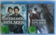 2x Sherlock Holmes Teil 1+2 Blu Ray Sammlung (Downey Jr. / Law) .