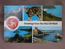 Vintage Colourmaster Multiview Greetings Postcard Of THE ISLE OF MAN.