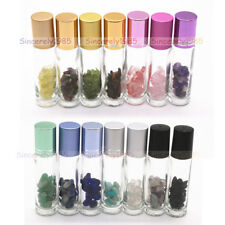 10ml Glass Roll On Bottles rollers for Essential Oils Natural Gemstone Chakra