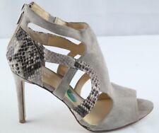 Ivanka Trump Satori Pumps Womens Sz 8 Taupe Suede Snake Print High Heel Shoes