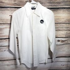495adae5 NCAA Men's Size Small Solid White Embroidered Button Up Long Sleeve Shirt