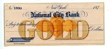 197X. New York.National City Bank.  GOLD.   Revenue RN-D1