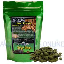 AQUAmunch Vege Disc Algae Wafers Aquarium Catfish Fish Food Spirulina 10mm