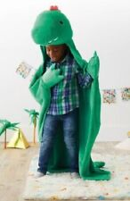 Super Soft Plush Dino Hooded Blanket with Dino Arms - Green - Pillowfort™