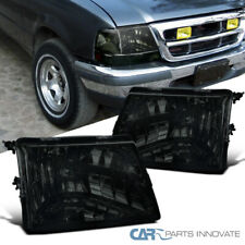 For 98-00 Ford Ranger Pickup Smoke Lens Headlights Tinted Head Lamps Left+Right