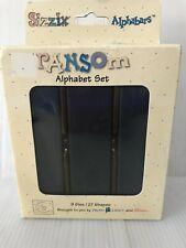 Sizzix Ransom Alphabars Alphabet Die Set 38-1088  New Condition Old Stock Boxed