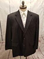 Brooks Brothers Dark Gray 2 Button Suit jacket Blazer 100% Wool Sports Coat 46 R