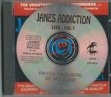 "JANES ADDICTION     ""Live Vol 1 ""     93 Amcos CD"