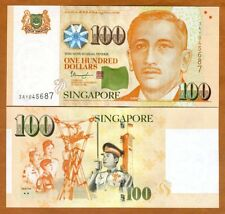 Singapore, 100 Dollars, ND (2018), P-50-New, UNC >  2 Solid Stars