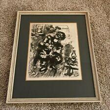 """Marc Chagall """"Le Savetier et le Financier"""" Cobbler Restrike Etching Print"""