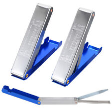 New listing 2pcs Welding Torch Nozzle Tip Cleaner Tool - 13 in 1 in Blue Aluminum Case Tool