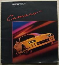 Chevrolet Camaro USA LF sales brochure 1985 #4473 IICO-Z Berlinetta sport coupé
