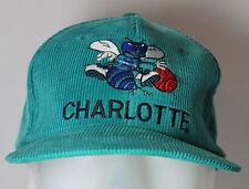 Charlotte Hornets Hugo VINTAGE Corduroy NBA Twins Adjustable Hat Cap