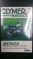 New Clymer Honda Service Manual 100-350cc OHC Singles 1969-1982
