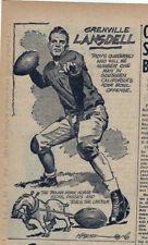 1939 newspaper feature by Art Krenz - Grenville Lansdell Usc Trojans Football