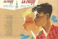RARE EO PIERRE JOUBERT MINI POSTER PUBLICITAIRE POUR LA FUSÉE N° 3 DE 1955