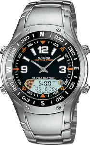 Casio Hunting Timer Moon Phase Anadigi Stainless Steel Watch AMW-701D-1AV