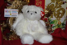 "TY CLASSIC ANGELINA THE WHITE ANGEL BEAR.BUDDY SIZE.9"".MWNMT.2002.NICE GIFT"