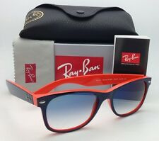 Ray-Ban Sunglasses RB 2132 NEW WAYFARER 789/3F 55-18 Blue on Orange w/Blue Shade