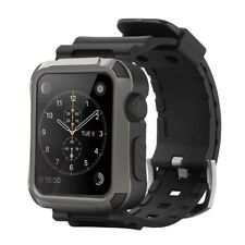 for Apple Watch 42mm Simpeak Rugged Protective Case W/sillicon Band AU Stock