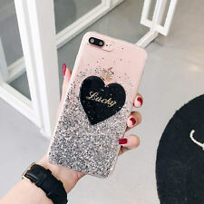 Girl's Cute Love Bling Glitter Soft Gel Lucky Case Cover for iPhone 6/6S/7 Plus