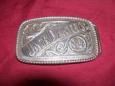 Jack Daniel's Old No 7 Brand Brass Belt Buckle Whisky Whiskey Distillery Liquor